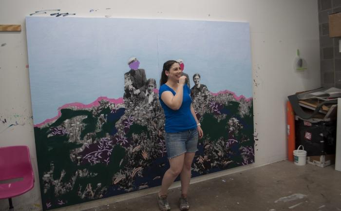 Daisy Patton in her studio