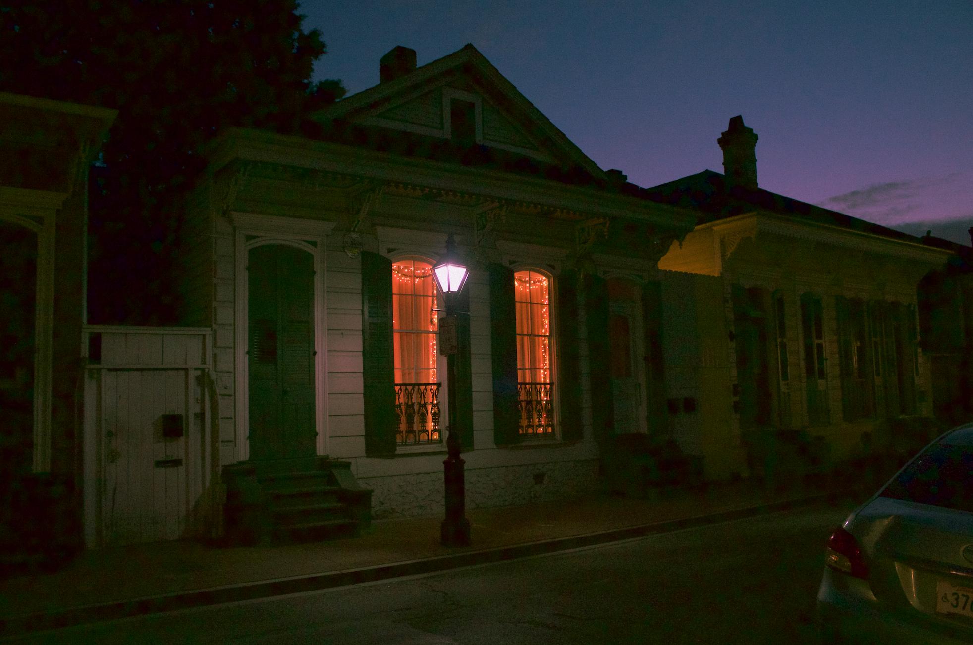 house at night, April 2016