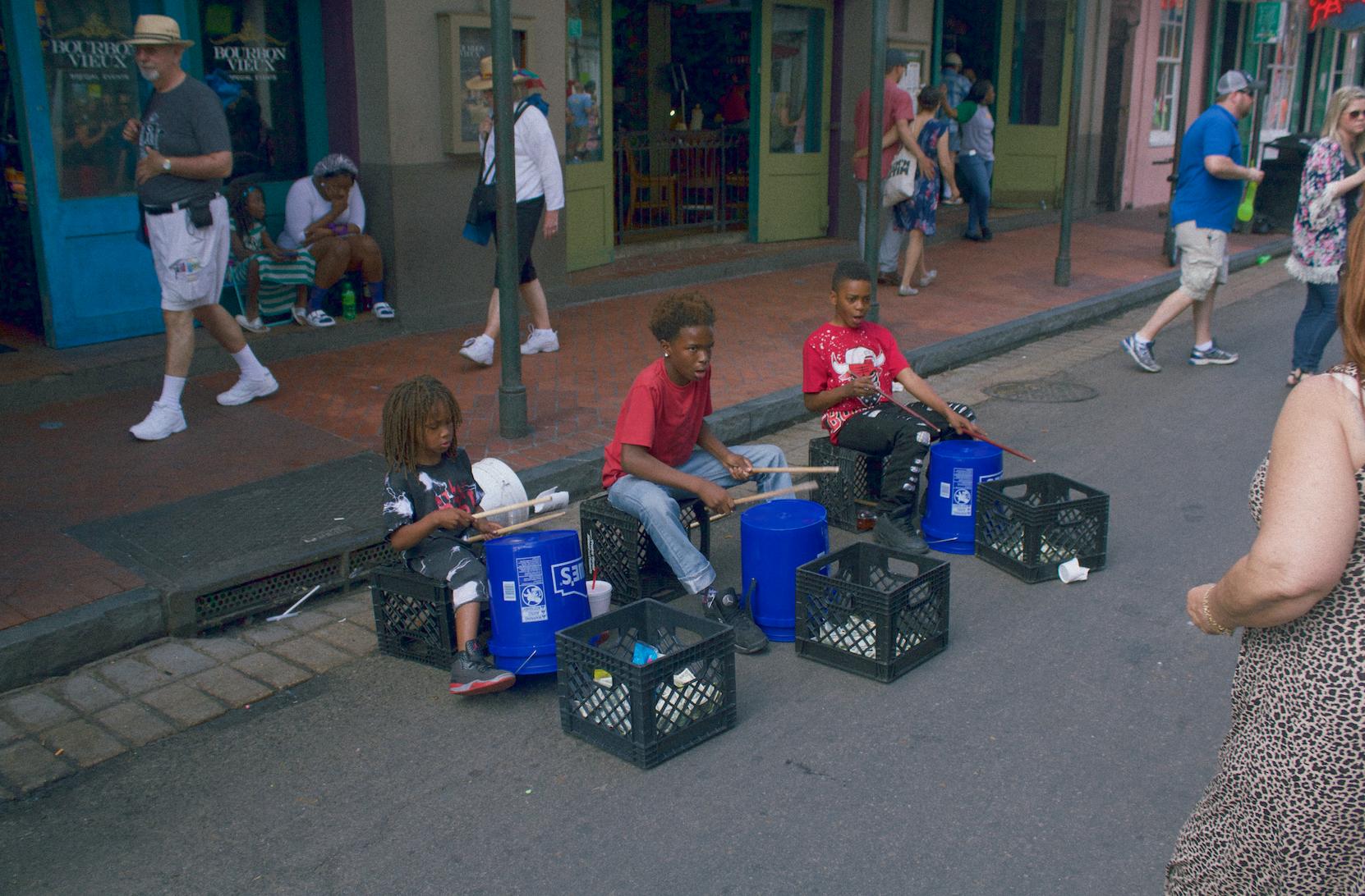 three little drummers, April 2016