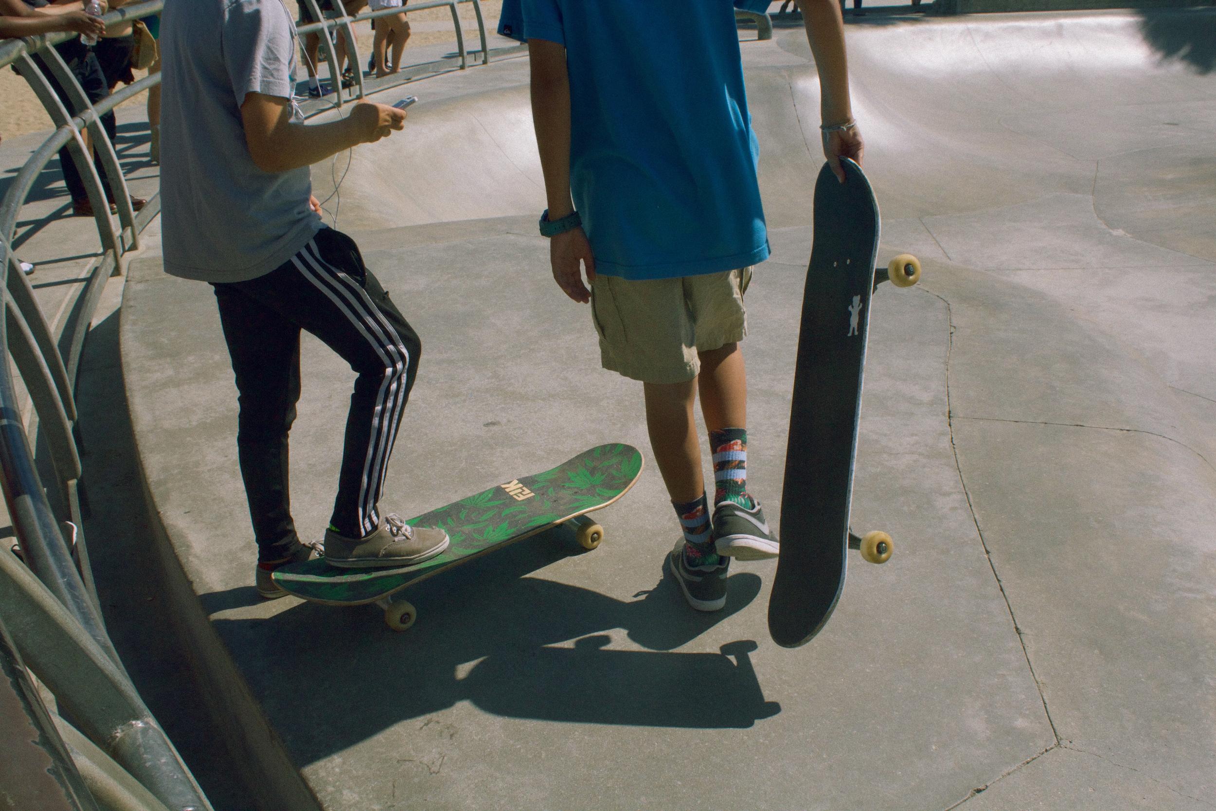 skater boys at Venice Beach, August 2016