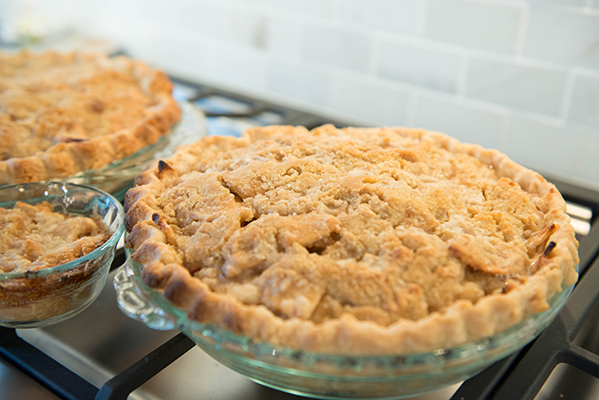 2 1/4 Homemade Apple Pies. The 1/4 always goes to the baker - for taste testing purposes, of course.