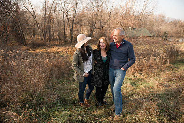 Family fall photo shoot in the rural setting of their backyard.  The barn in the background and natural setting inspired this carefree session - Lisa Villella Photography - www.lisavillellaphotography.com