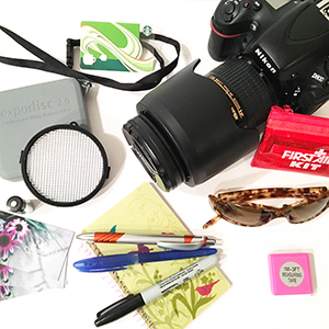What's in my bag? This is just a fraction of what I carry with me to photography shoots. It pays to be prepared - www.lisavillellaphotography.com