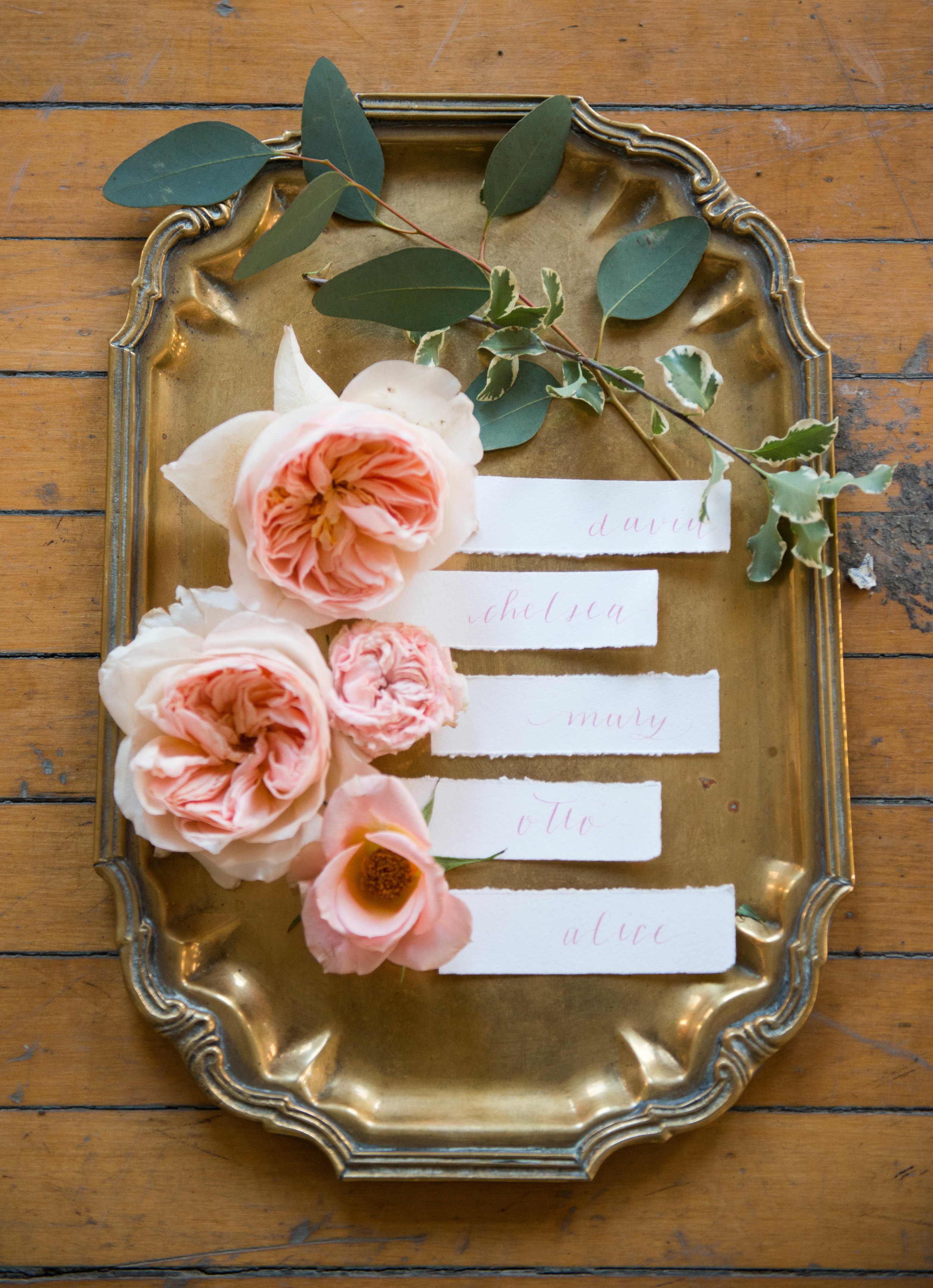 shabby chic name cards.  Oakland County and Metro Detroit michigan Wedding photographer.  Florals: Take A Seat Events - www.lisavillellaphotography.com