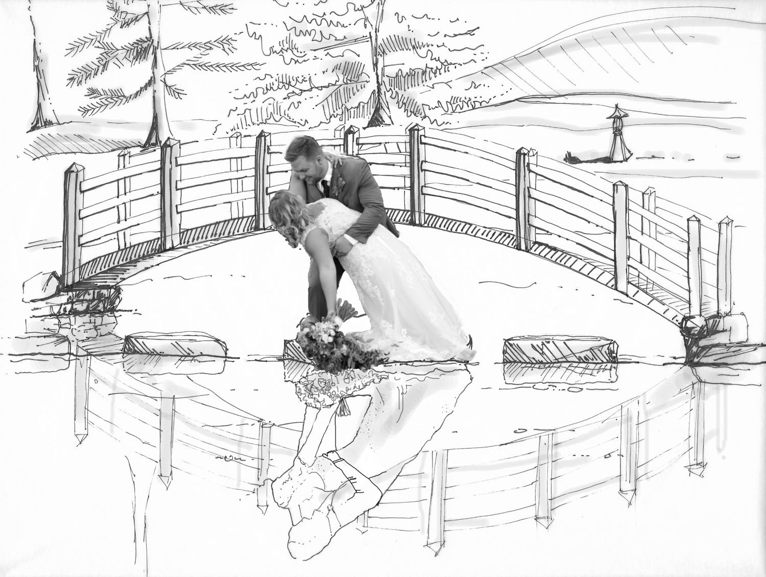 photo-sketch-custom-fine-art-bridge-lisa-villella-photography