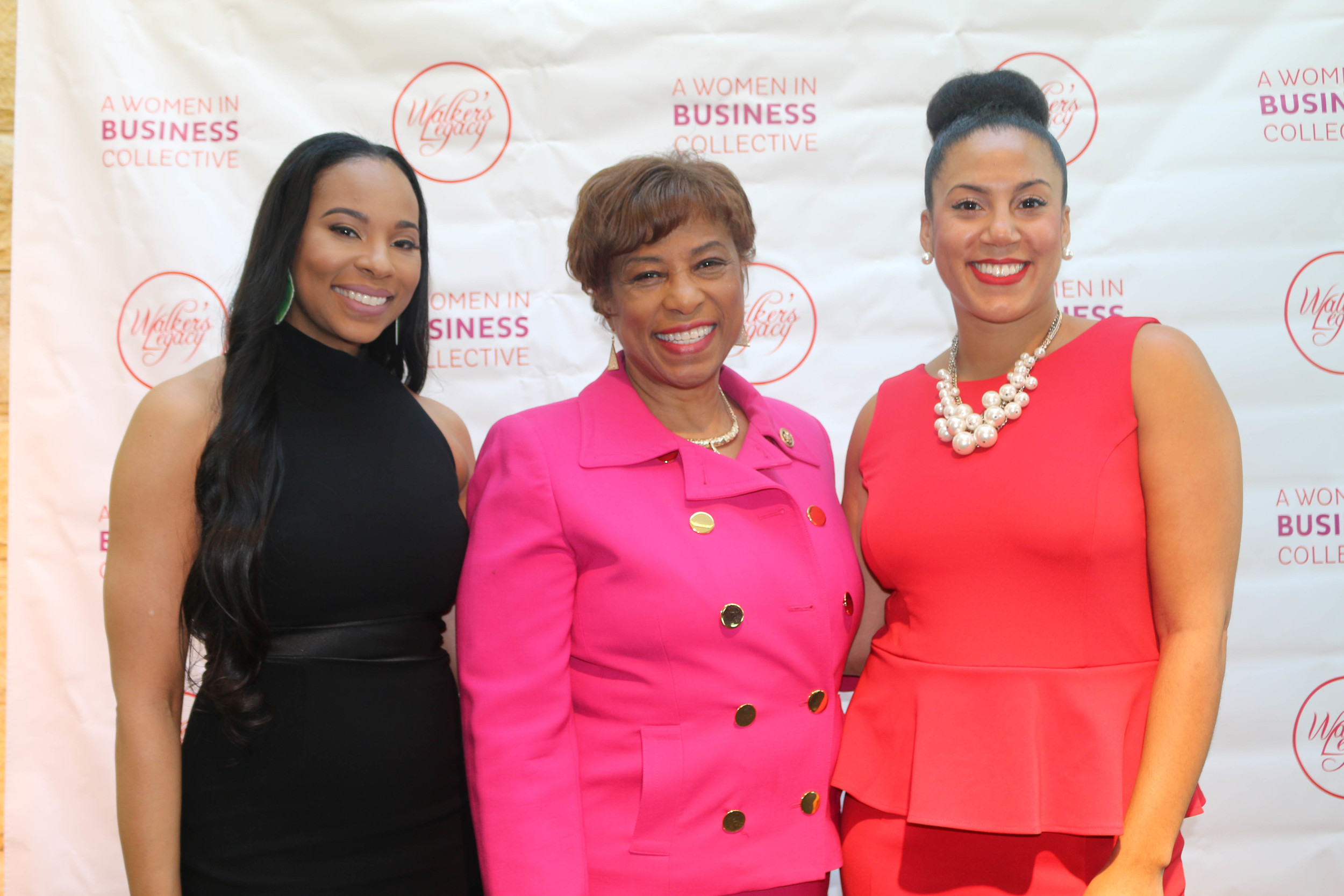 Anistia Phiartia- Detroit Chair Walker's Legacy, Congresswoman Brenda Lawrence, Natalie M.Cofield Founder Walker's Legacy.