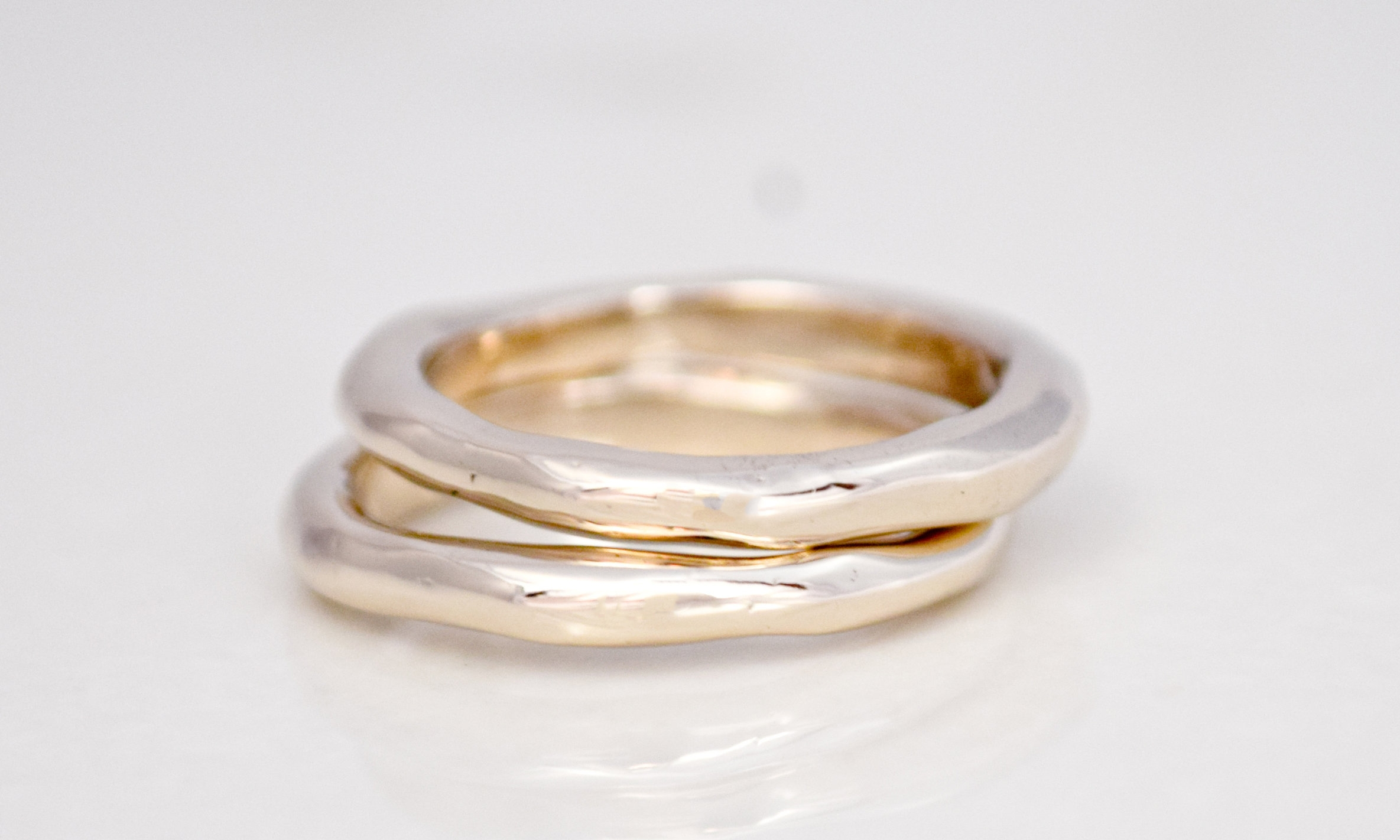 FEDONA RING IN 18K RECYCLED WHITE GOLD. THESE TWO ARE NOW HAPPILY ON HIS AND HER FINGER IN LONDON!