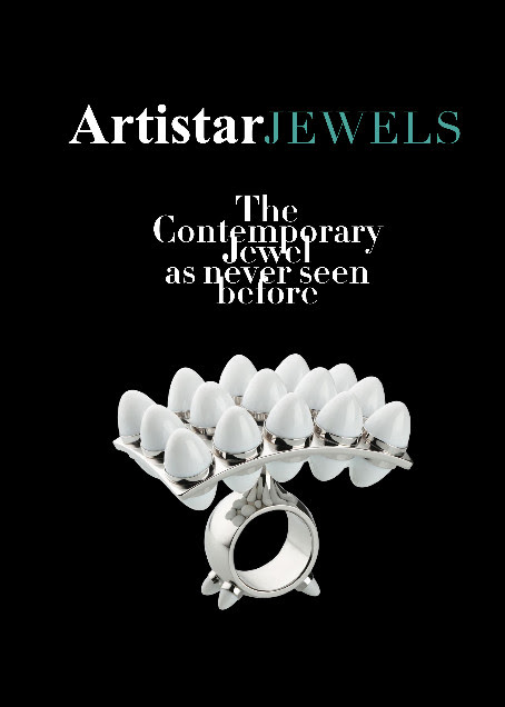 """Artistar Jewels 2018 collects the stories of 170 international artists through their 450 creations, offering a encyclopedic selection on contemporary jewelry.  Jewels of the highest level, both for techniques and manufacturing, some characterized by high stylistic research and some by manufacturing excellence and reinterpretation of the traditional materials. Not only items to observe, to admire and to wear. They are first and foremost objects to tell, to live and to love. Those who choose these body ornaments love them and are spokepersons of an idea or of a precise aesthetic concept and by wearing them the the wearer becomes a tableau vivant of a story.  In the volume there are also the special contents dedicated to the international artists Yoko Ono, Pol Bury and Faust Cardinali. Get lost among the pages of this book; pages made of colors, materials, stories and passions, in a selection careful to news, without being afraid of the new. Walk a high creative and moving path. It's the love for the art. And jewelry as well, in the art field, represents the Zeitgeist, the history spirit and it is never an accessory element"""