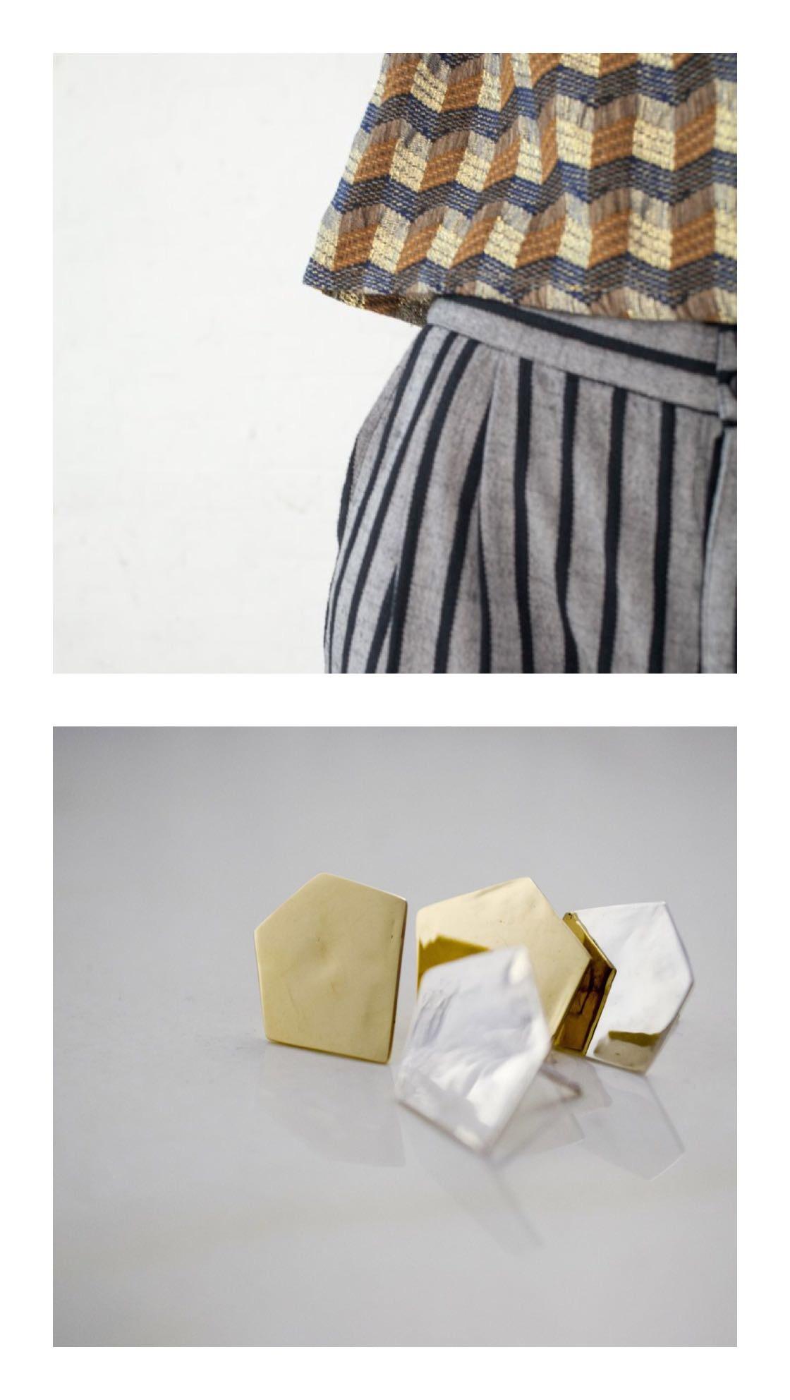 *Ace&Jig trousers   |  Penta Earrings, 14K and Sterling Silver.
