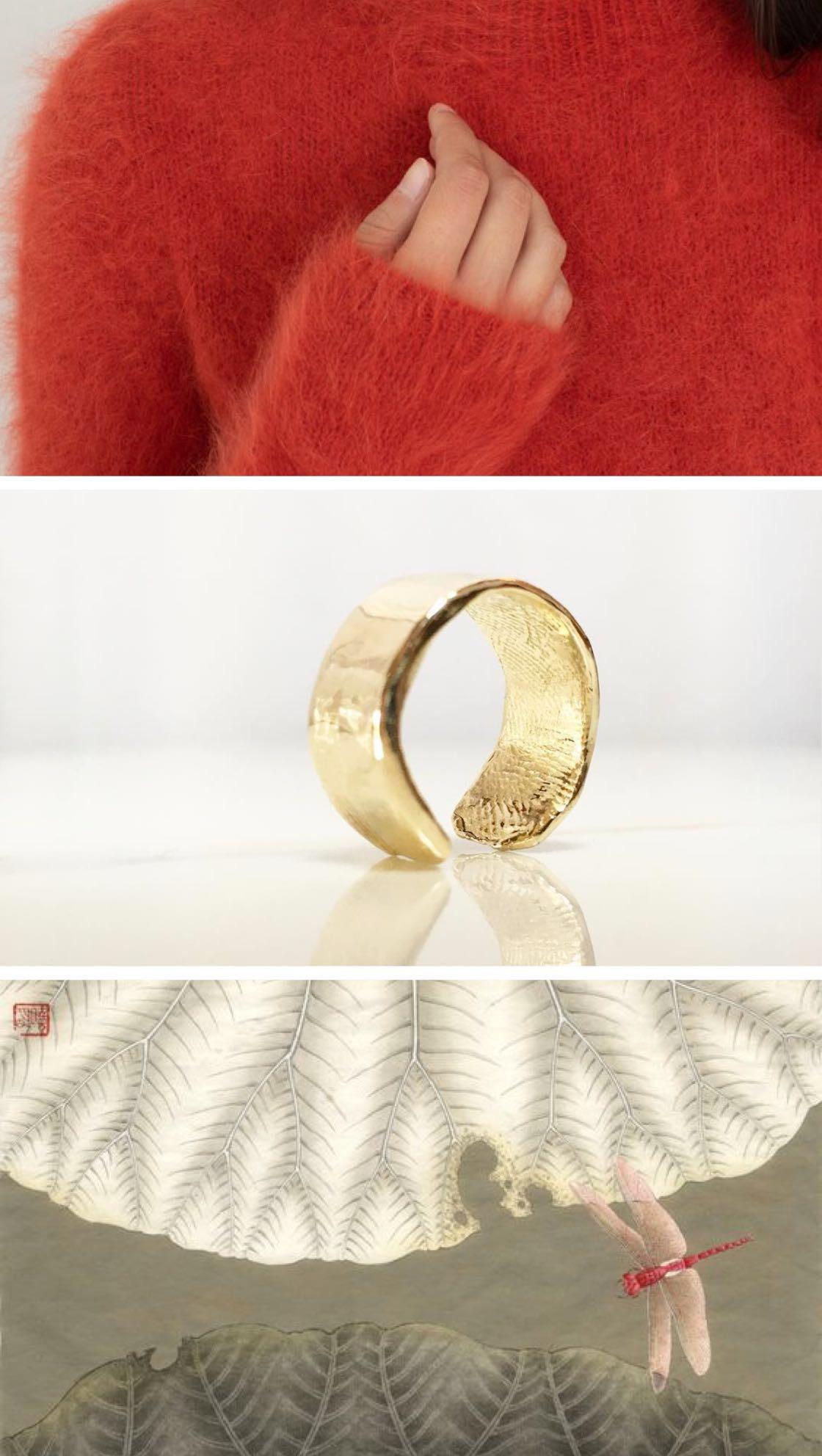 *Ulla Johnson, Mars turtleneck in crimson  |   Cicca Ring, S, 14K   |  Chinese painting.