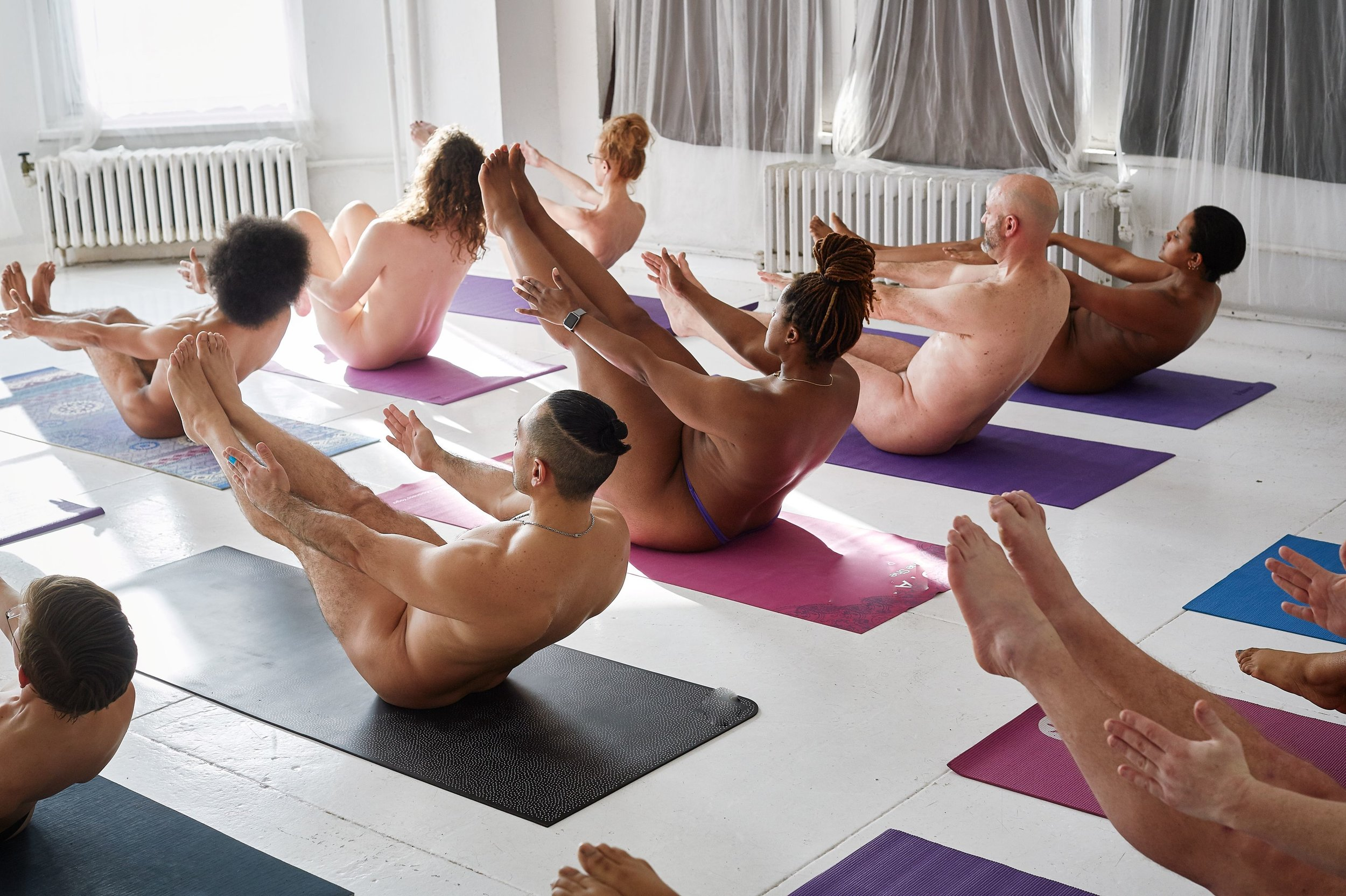 Naked! Yoga & Pilates class with Naked in Motion. All bodies welcome.