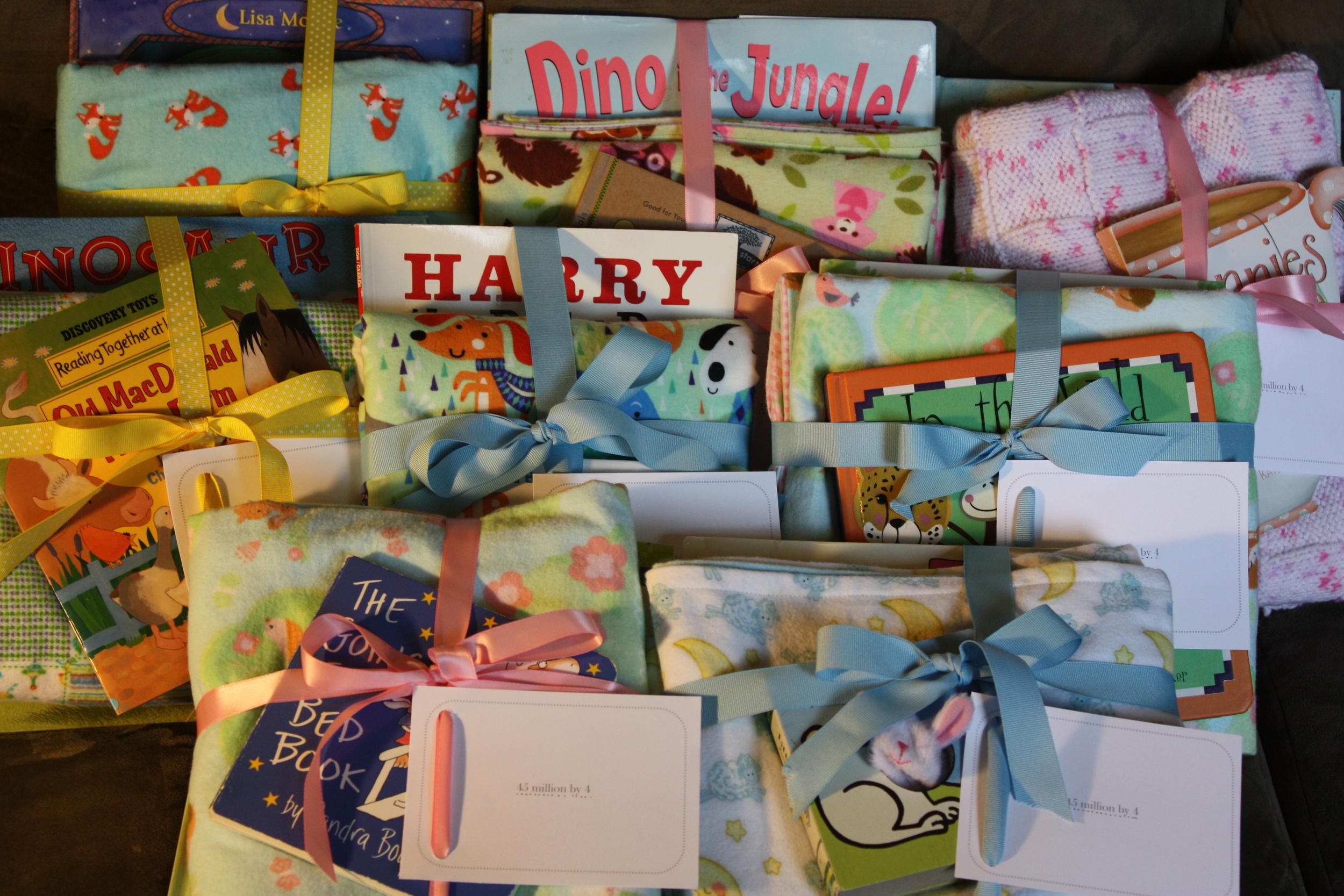 Book n blankie packages