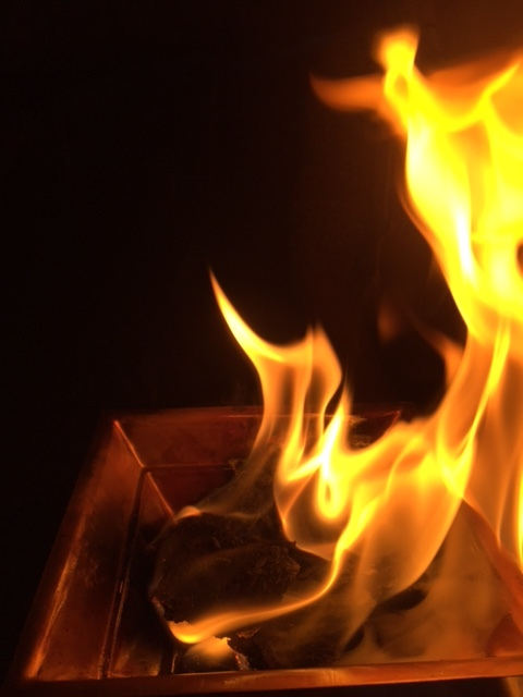 fire in performance - the smoke is healing, the ash has many beneficial uses and applications