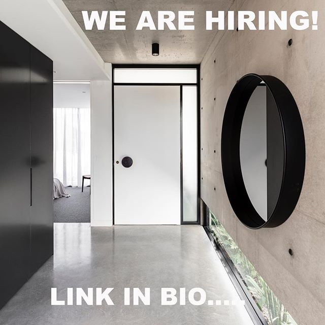 Are you a motivated, design driven architect looking to grow your career with an exciting emerging practice? Come work for us! Link in bio- local Sydney applicants only please.