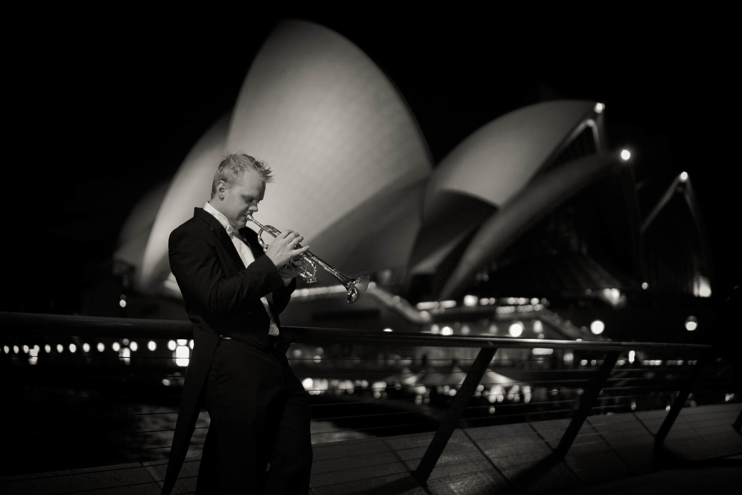 Phill O'Neill outside the Sydney Opera House