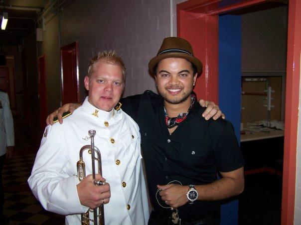 Phill O'Neill Trumpet player with Guy Sebastian Singer