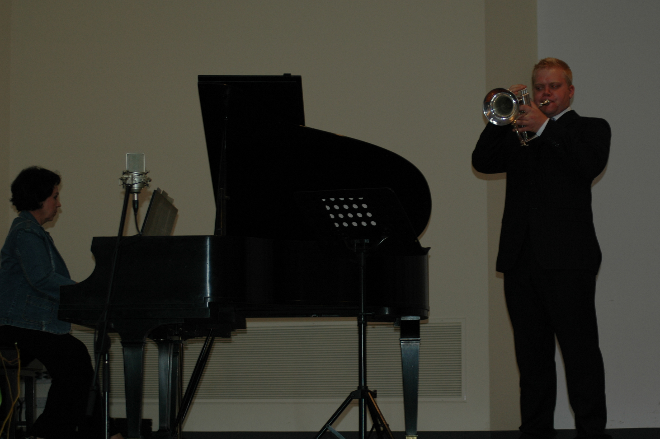 Trumpeter Phill O'Neill performing for a wedding in Adelaide Australia
