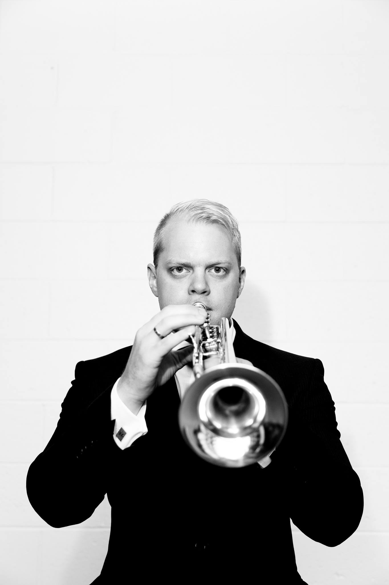 Trumpeter Phill O'Neill showcasing his new Stomvi Trumpet