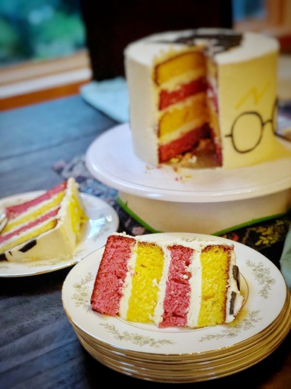 Harry Potter Vanilla Cake Layers