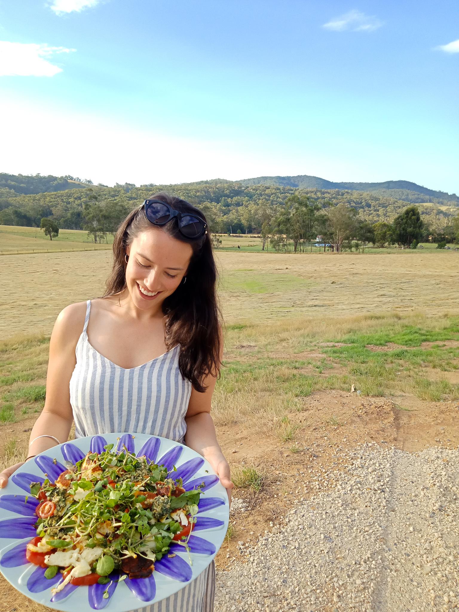 halloumi salad yarra valley melbourne