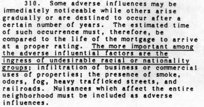 From the pre-1968 Federal Housing Administration Manual. Courtesy of archives of the University of Baltimore.