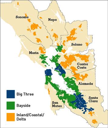 Plan Bay Area subregions