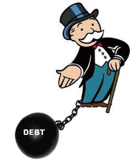 Rich man full of debt