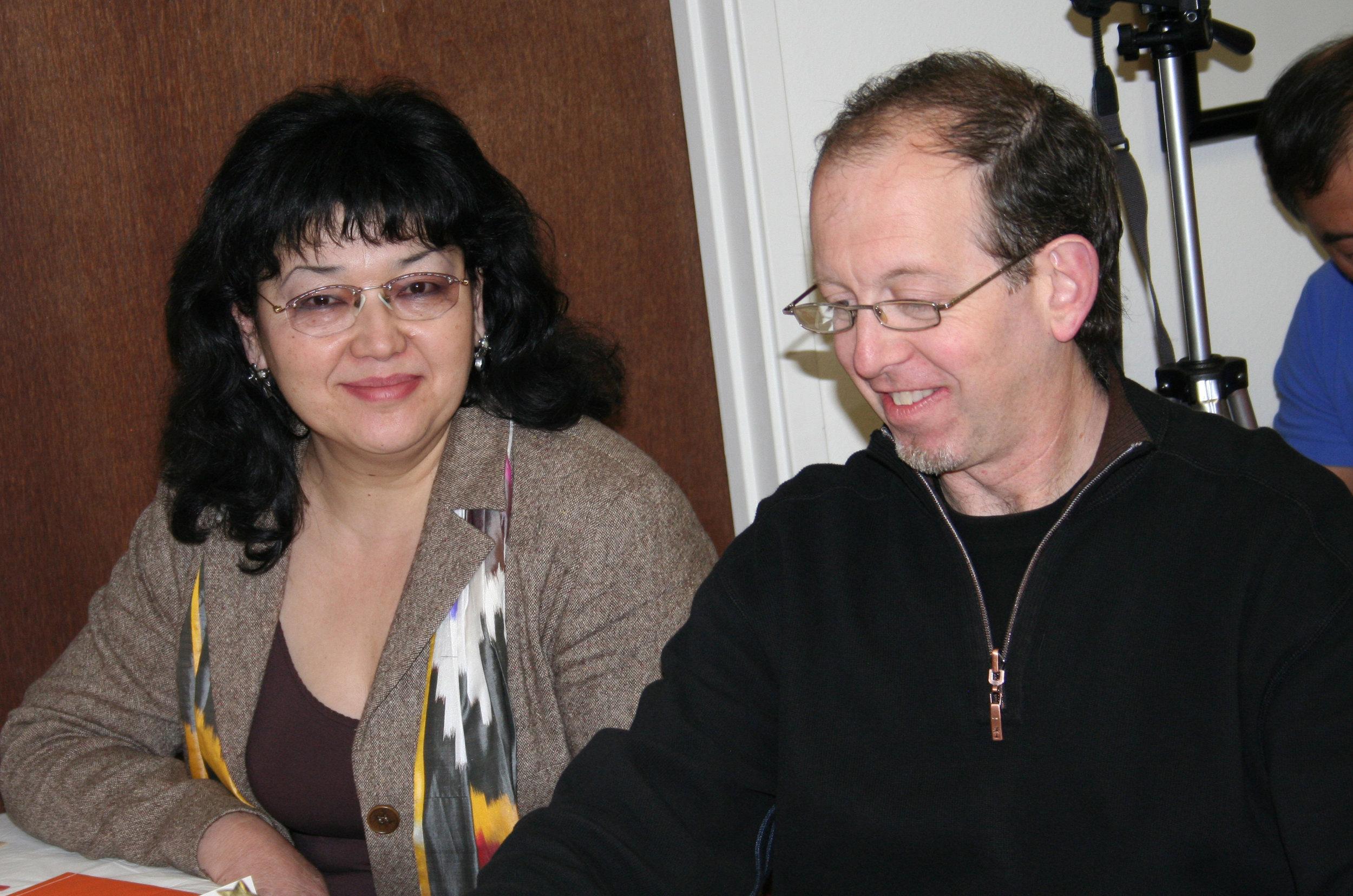Dr. Mavlyuda Yakubkhodjaeva,  Assistant Professor Emeritus, Kazan Conservatory, Kazan, Russia, with  Professor Richard Cionco , were adjudicating at the AAM Festival.