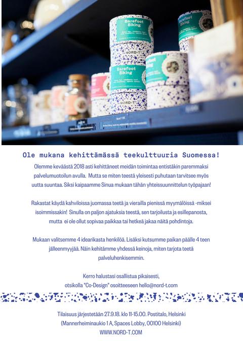 NORD-T co-design on Finnish tea culture2