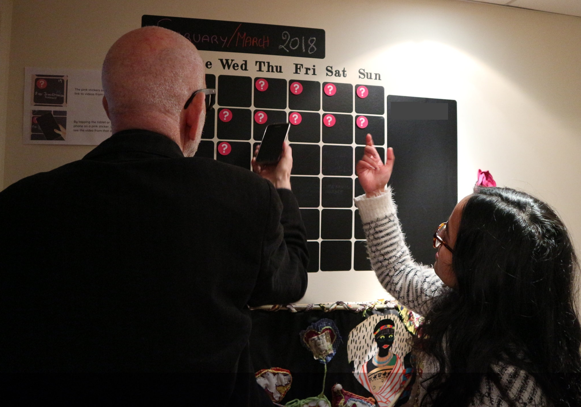 David and Manisha from Humanly exploring the calendar