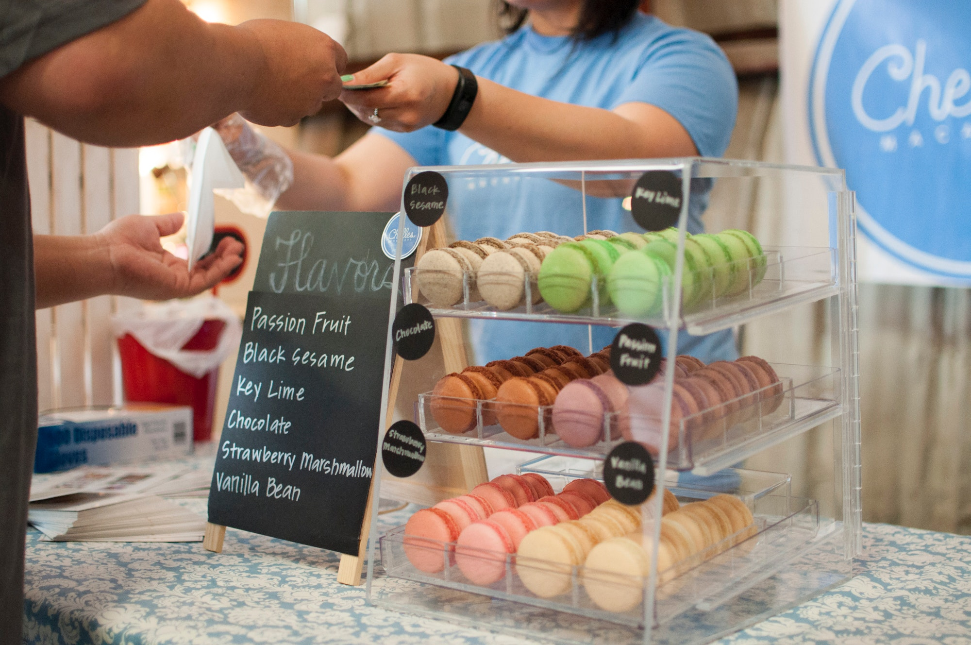 E-learning can increase customer satisfaction - for example, this macaroon shop noticed an increase in sales after their employees did a customer service course.