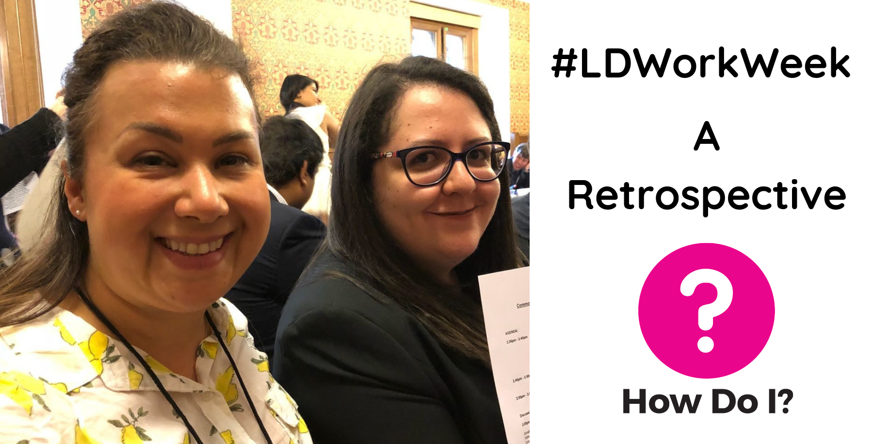 #LDWorkWeek - A Retrospective (Pictured: Taryl and Zeinab attending The First Commonwealth Disabled Youth Roundtable)