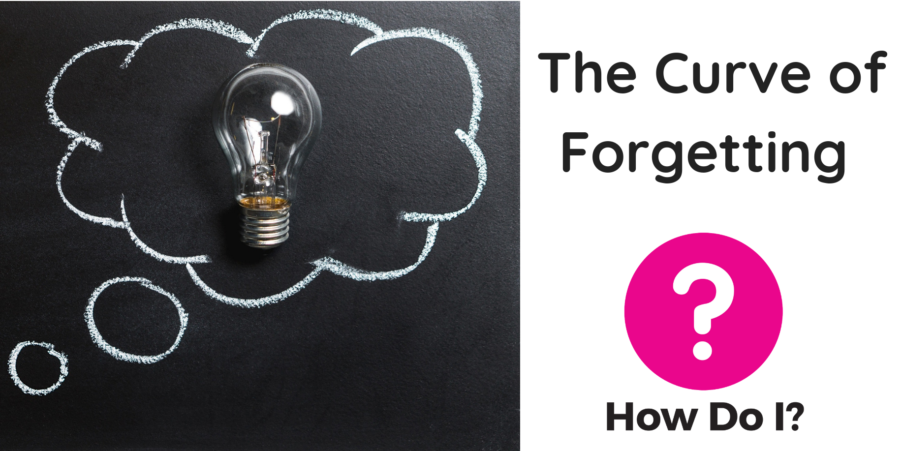 What you need to know… about The Curve of Forgetting (Banner includes blog title, How Do I? logo and a picture of a light bulb)