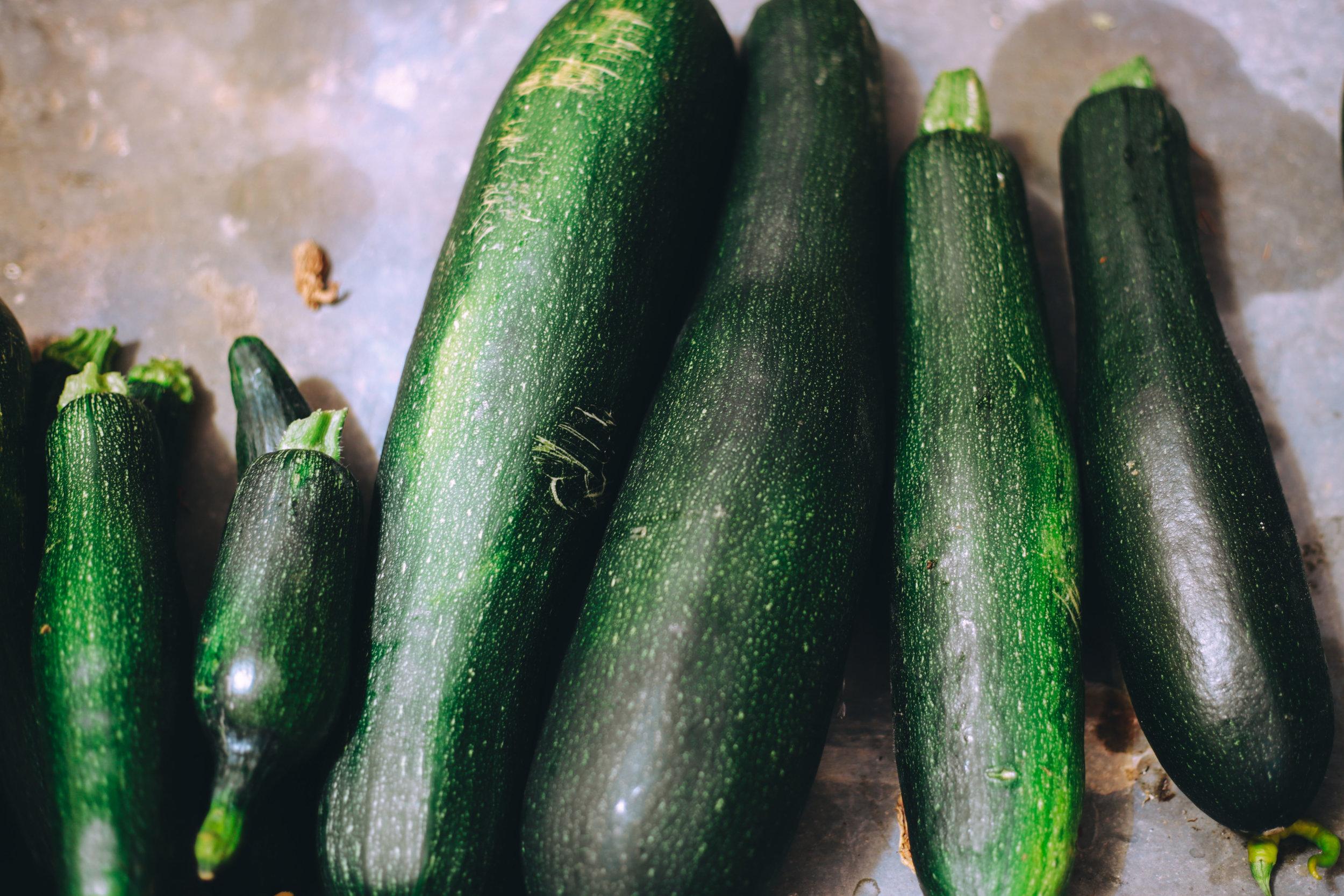 Zucchini - rich in iron, antioxidants and vitamin c.