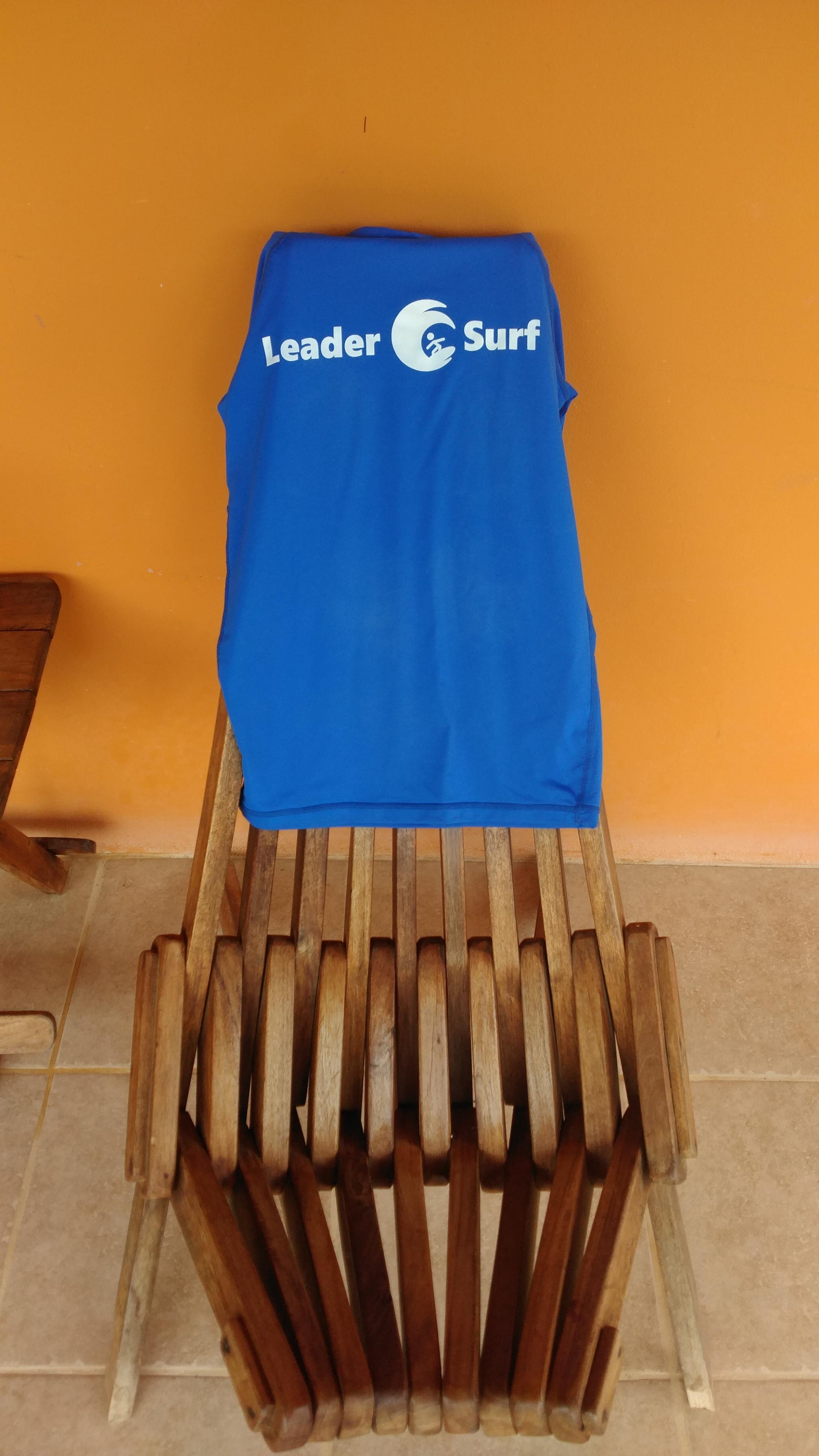 LeaderSurf shirt on chair