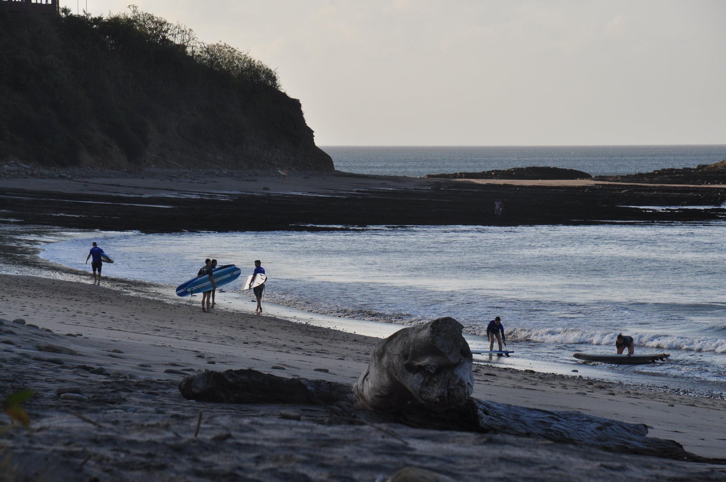 Sunrise surf session
