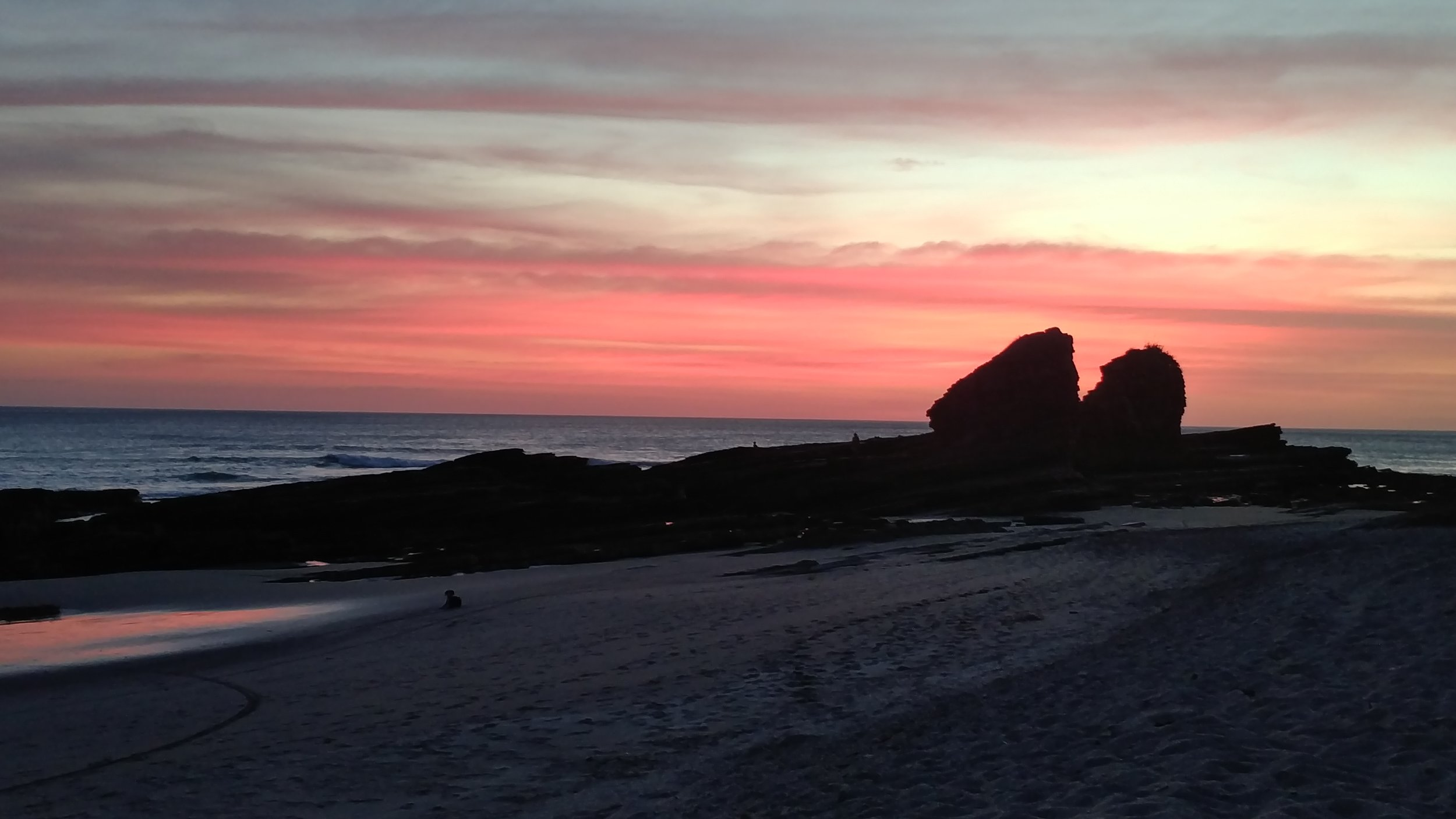Sunset over Mag Rock