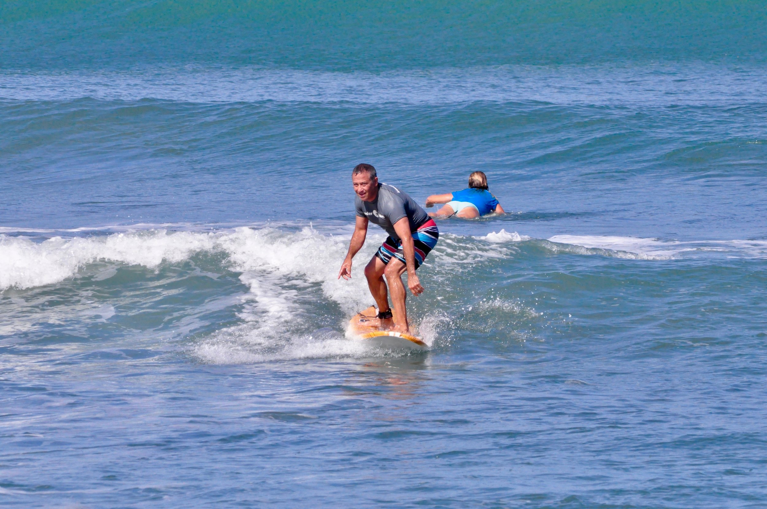 Jack surfing a wave