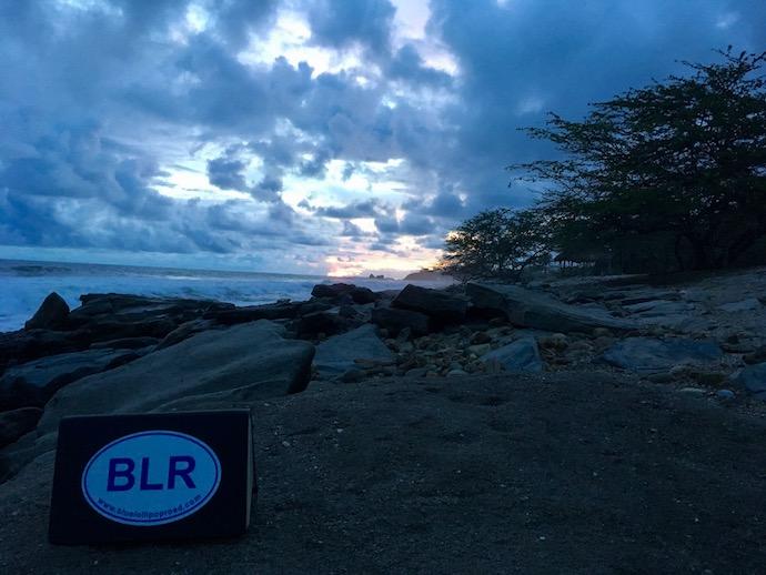 BLR on the beach
