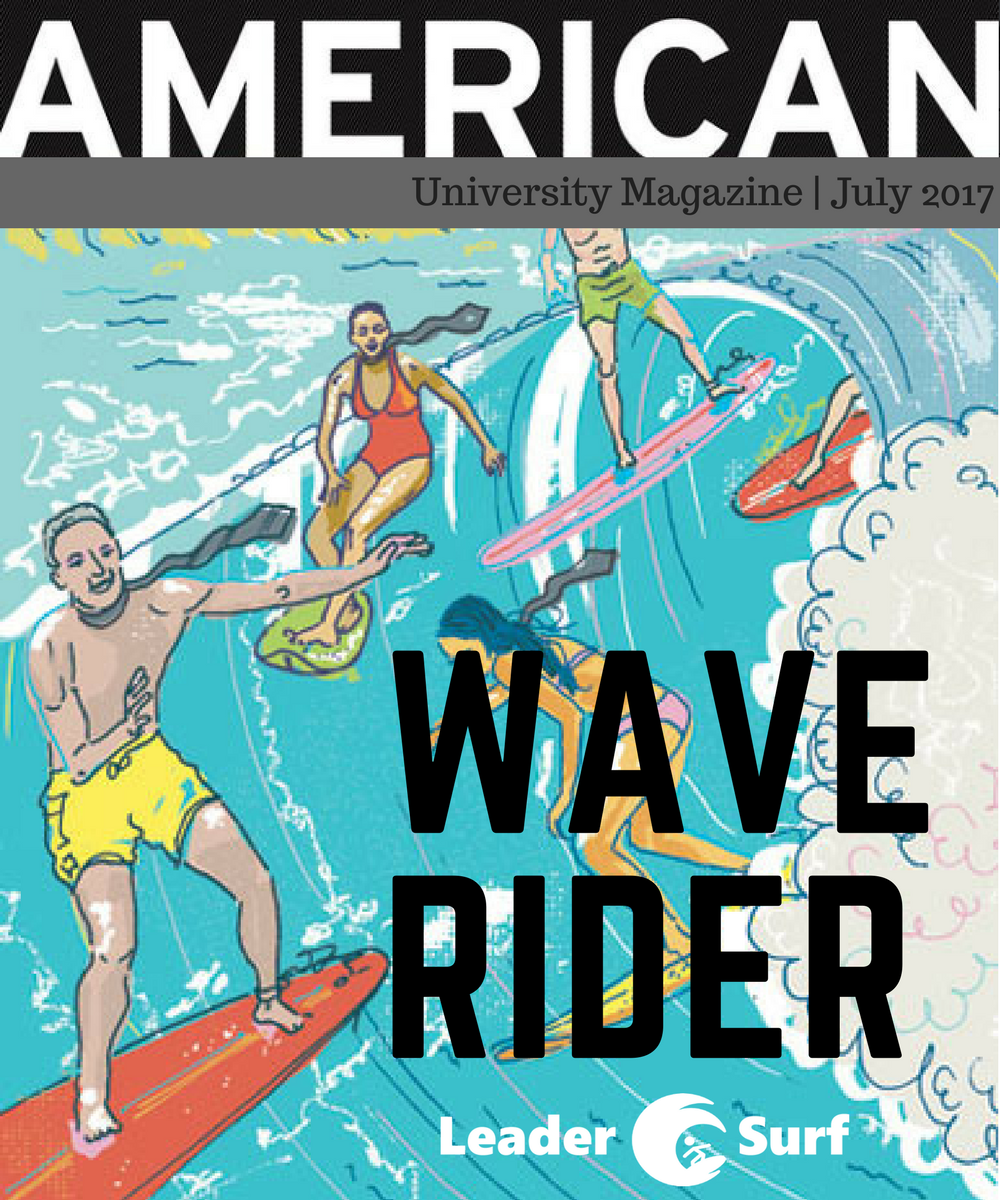 Wave Rider American University Magazine Cover