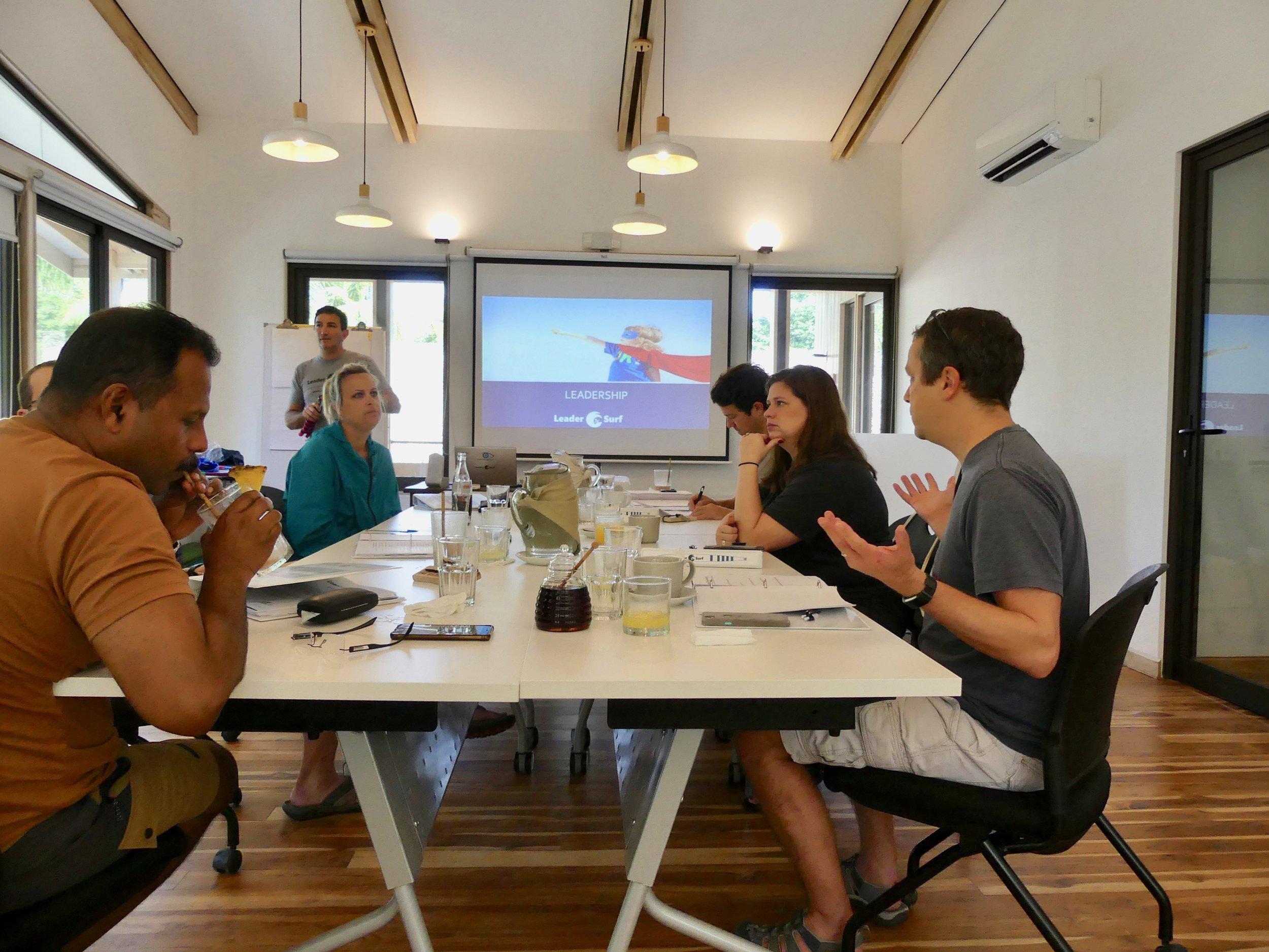 LeaderSurf classroom session