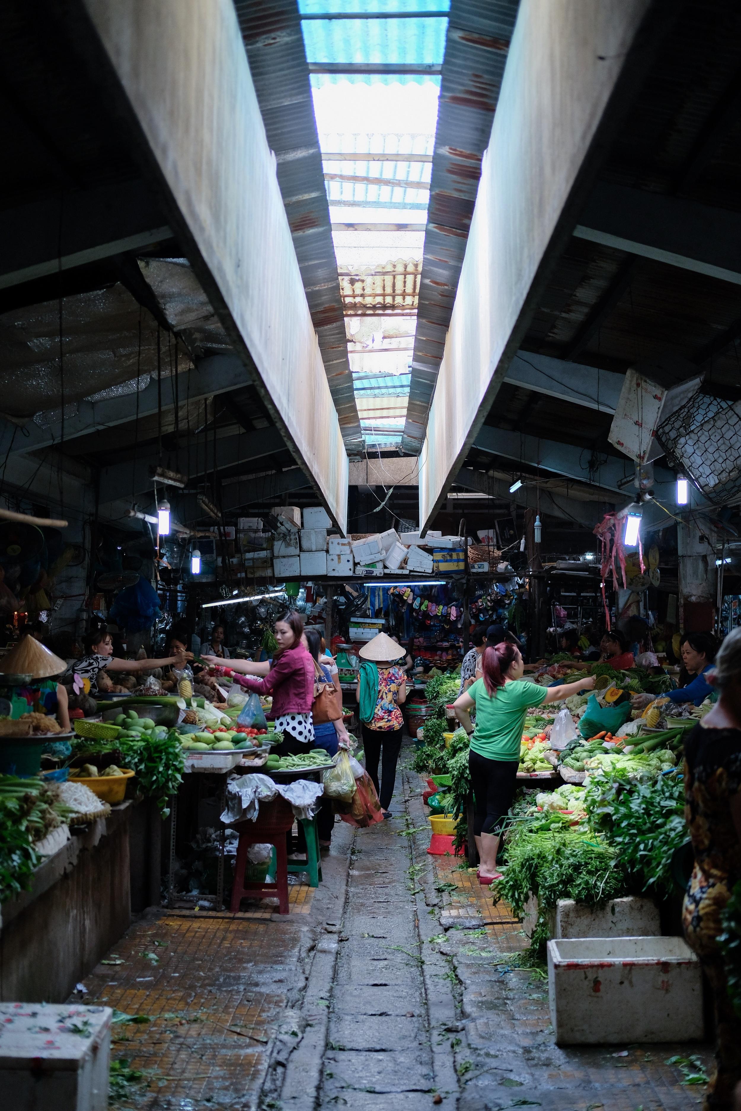 The Binh Tay Market hall.