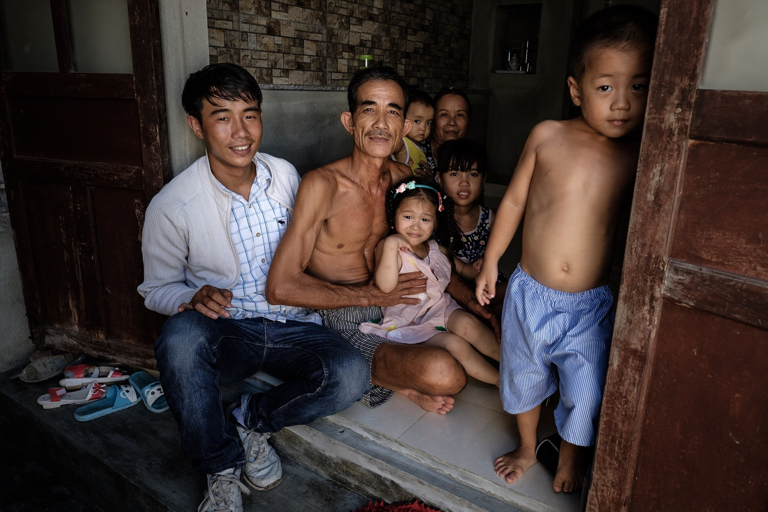 Thuan and his family.