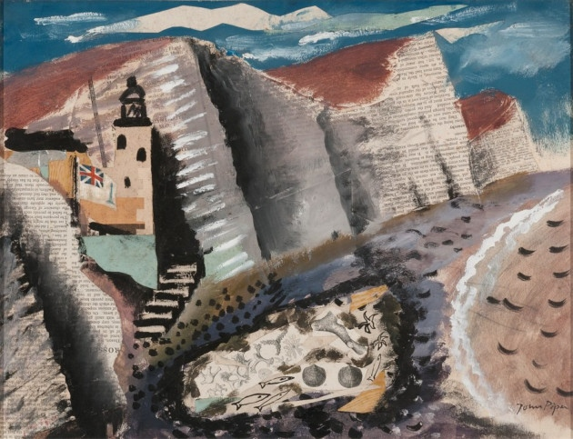 John Piper, Beach and Star Fish, Seven Sister's Cliff Eastbourne (1933 – 34), Jerwood Collection © The Piper Estate