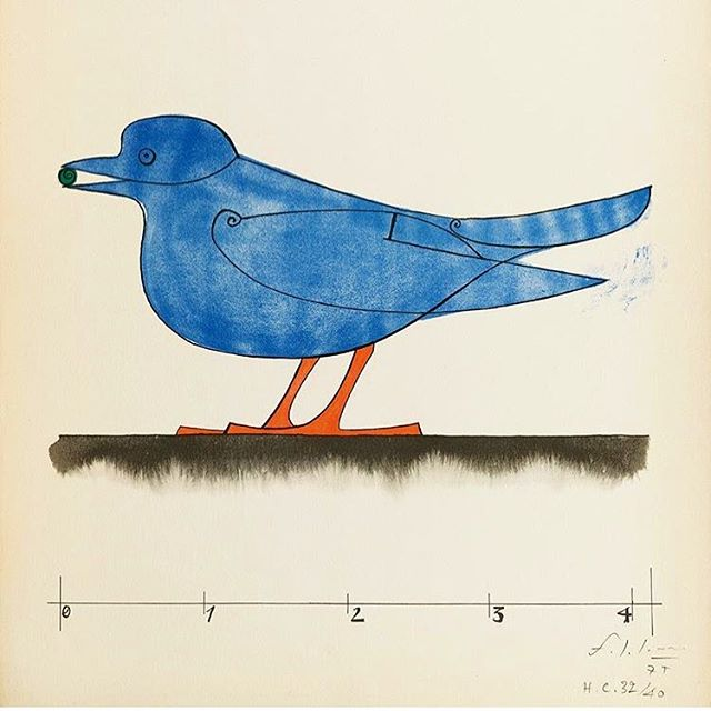'Oiseau Bleu' by Francois-Xavier Lalanne - our fave painting of the week #theirisletter