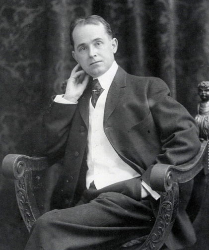 Portrait of Winsor McCay from 1906 which appeared in the  New York Herald  on February 17, 1907.