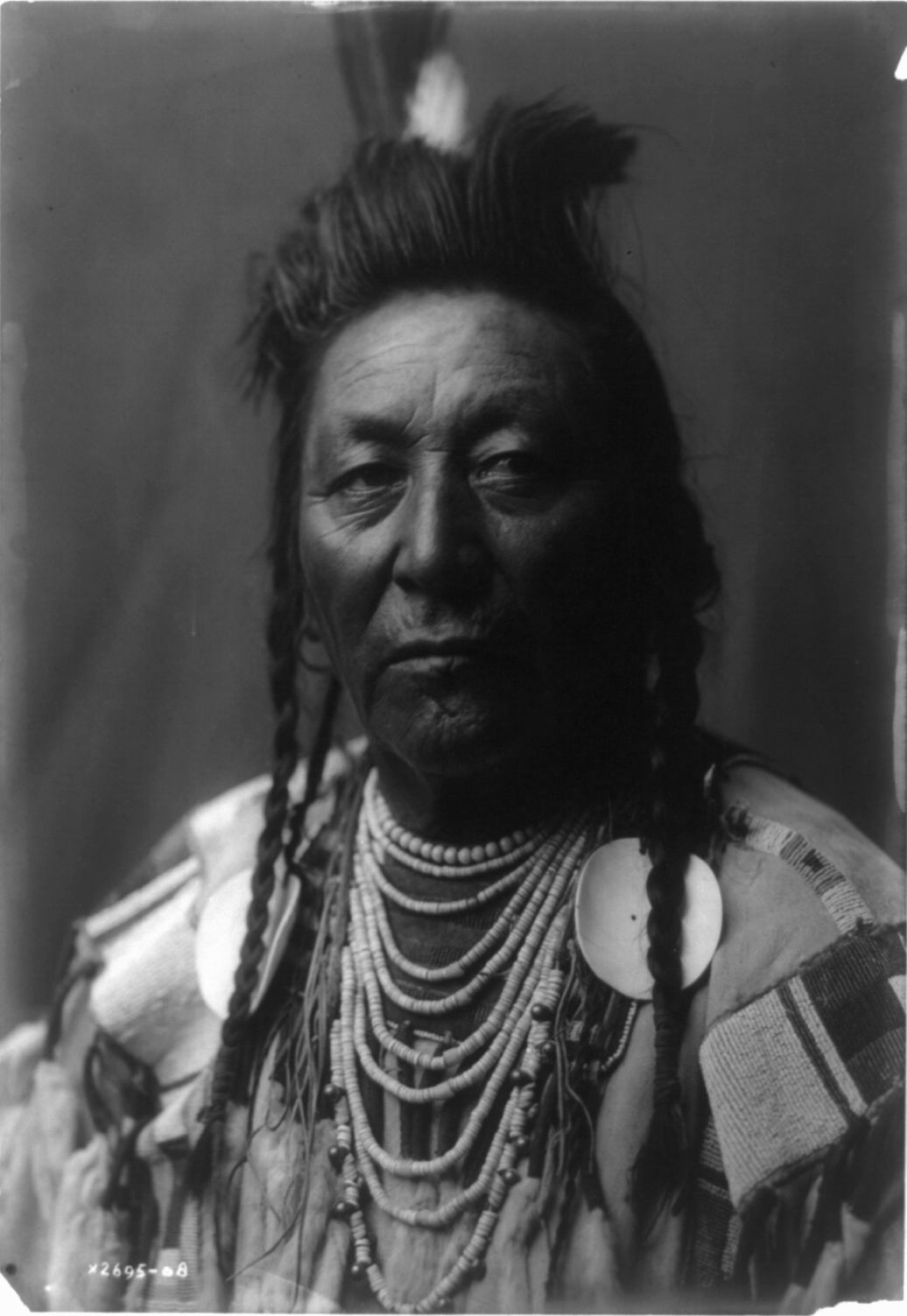 Plenty Coup, chief of the Crow. Photograph by Edward S. Curtis, Library of Congress, Curtis Collection