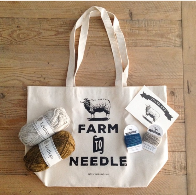 Tolt Yarn and Wool Farm to Needle Tote