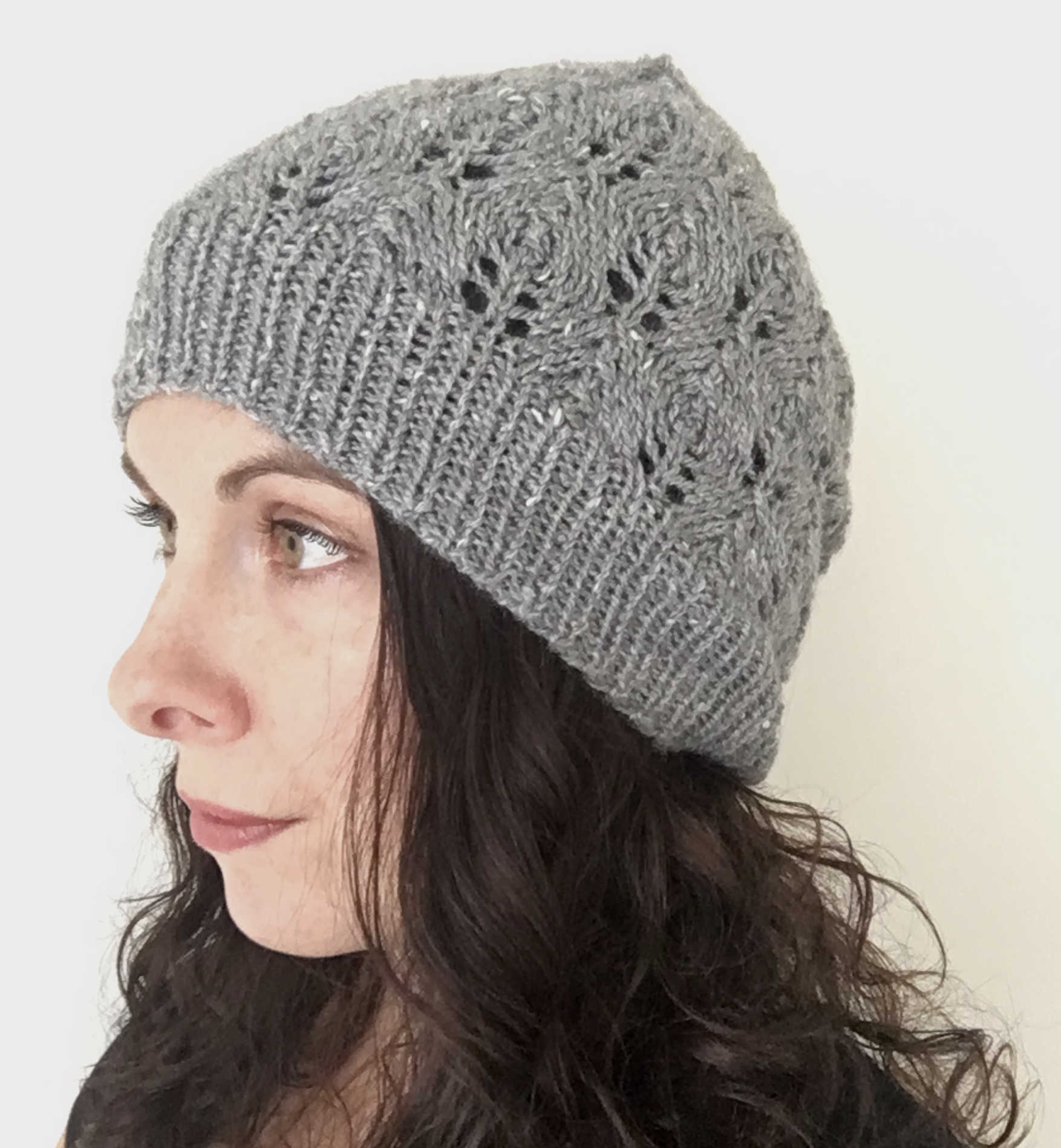 knit lace hat