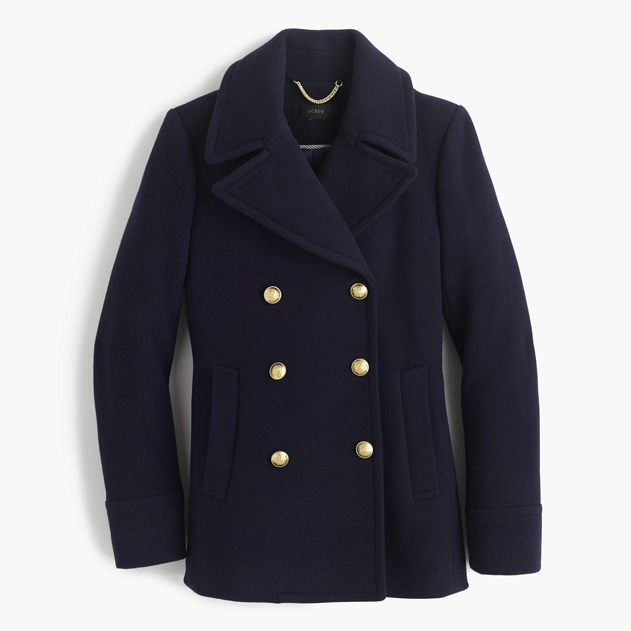 Jcrew Majesty Peacoat in Navy